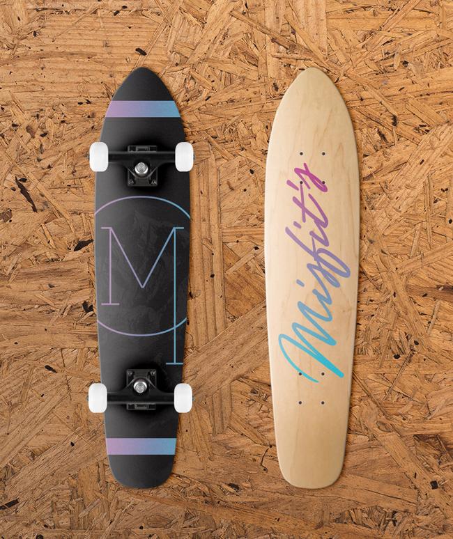 Misfit's Longboards Mockup